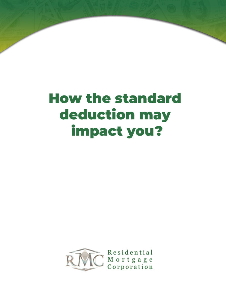 how standard deduction may impact you