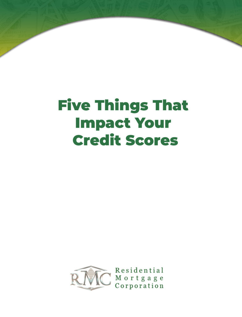 Five things that impact your credit